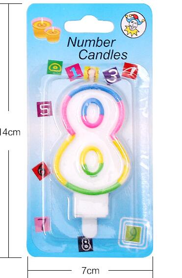 Colorful number candle