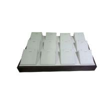 12 Inlays en bois en cuir PU pendentif en boîte de rangement en gros (TY-12P-WLX1)