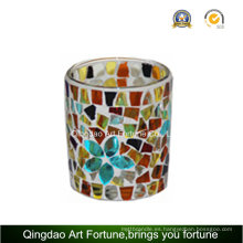 Mosaic Votive Copa de vidrio Tealight Candle Holder