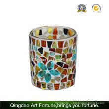 Стеклянный подсвечник с мозаикой Votive Cup