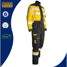 Mens Cotton Orange High Visibility Durable Safety Overalls