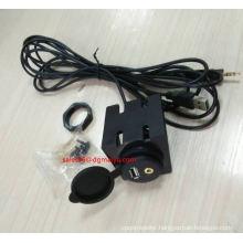 24/12V Car Motorcycle Cruiser USB Audio Charger