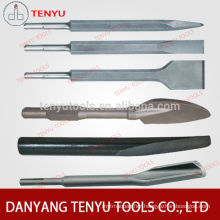 SDS plus point and flat chisel for concrete and stone,sds plus chisel
