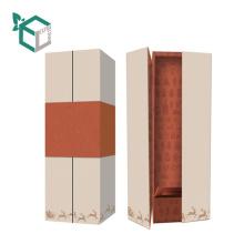 Customization cardboard rigid paperboard wine box with beautiful high end fancy paper