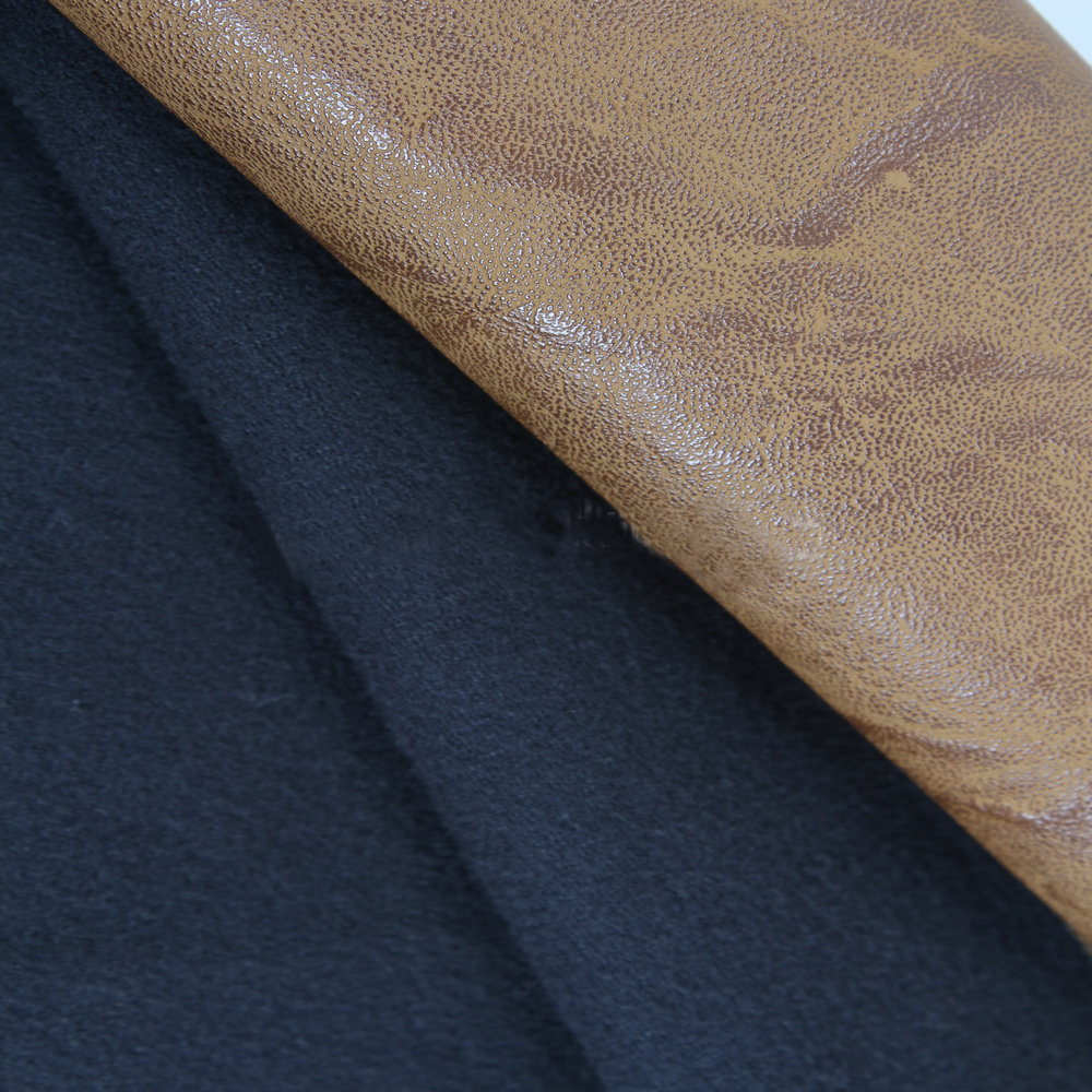 Thin woven PU leather for shoes