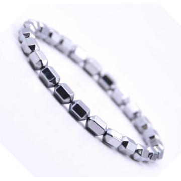 Pulsera Hematite de Hexagonal Hexagonal Hexagonal de Plata 5x8MM