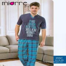 Miorre Men's Sleepwear %100 Cotton Short Sleeve Pajamas Set