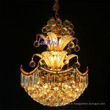 Hôtel or métal petit lustre en cristal chaîne décorative lustres