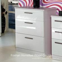 Pièce utilitaire Cabinet de coffre à 3 tiroirs à haute brillance (HC22)