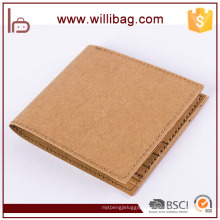 2017 Hot New Product Recycle Washable Kraft Paper Foldable Wallet