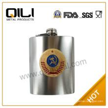6oz sanding stainless steel whisky popular monogrammed flasks