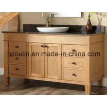 Wooden Marble Top Bathroom Vanity (BA-1138)