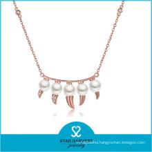 Charming Lady Fashion Fresh Water Pendant Quality Brass Jewelry (N-0330)