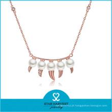 Encantadora senhora moda água fresca pingente de jóias de latão de qualidade (n-0330)