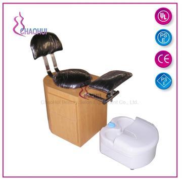 Cadeira de pedicure de armazenamento em madeira