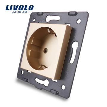 Livolo EU Standard Power Sockets Without Glass Panel AC 110~250V 16A Wall Outlet VL-C7-C1EU-13