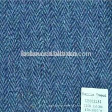 Venda quente moda atacado lã Harris tweed tecido