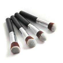 Professional 4PCS Black Synthetic Flat Foundation Cosmetic Brush