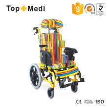 Topmedi Rollstuhl mit hoher Rückenlehne für Kinder mit Zerebralparese
