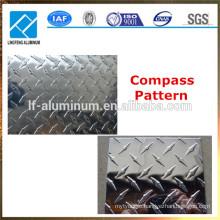Compass Pattern and Five bar Aluminum Checkered Sheet Plate