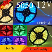 12В Сид smd5050 водонепроницаемый гибкие полосы света (60 LED/м)