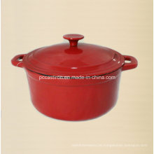 LFGB genehmigt Gusseisen Cocotte mit Emaille Finish China