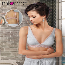 MIORRE OEM WOMEN'S NEW 2017 COLLECTION ELEGANT LACE DETAILED COMBED COTTON BUSTIER TOP