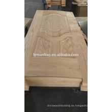 Tablero de puertas de madera de último diseño con revestimiento de chapa de piel