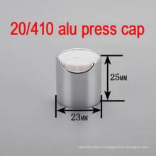 20/410 Alu / Plastic Screw Pump Shampooing Bouteille Cap / Press Top Cap