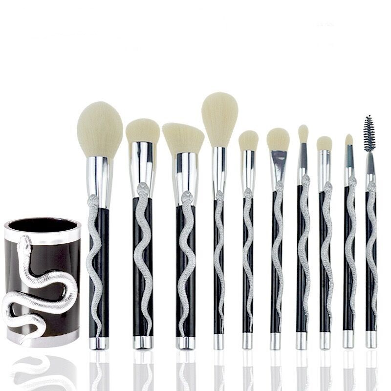 10 Pcs Snake Makeup Brush Set 1