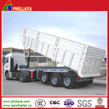 The Cargo Trailer Hydraulic Dump Truck Semi Box Trailer