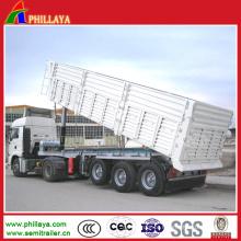 Descarregador resistente do reboque do caminhão de mineração para a areia / transporte de Dinas