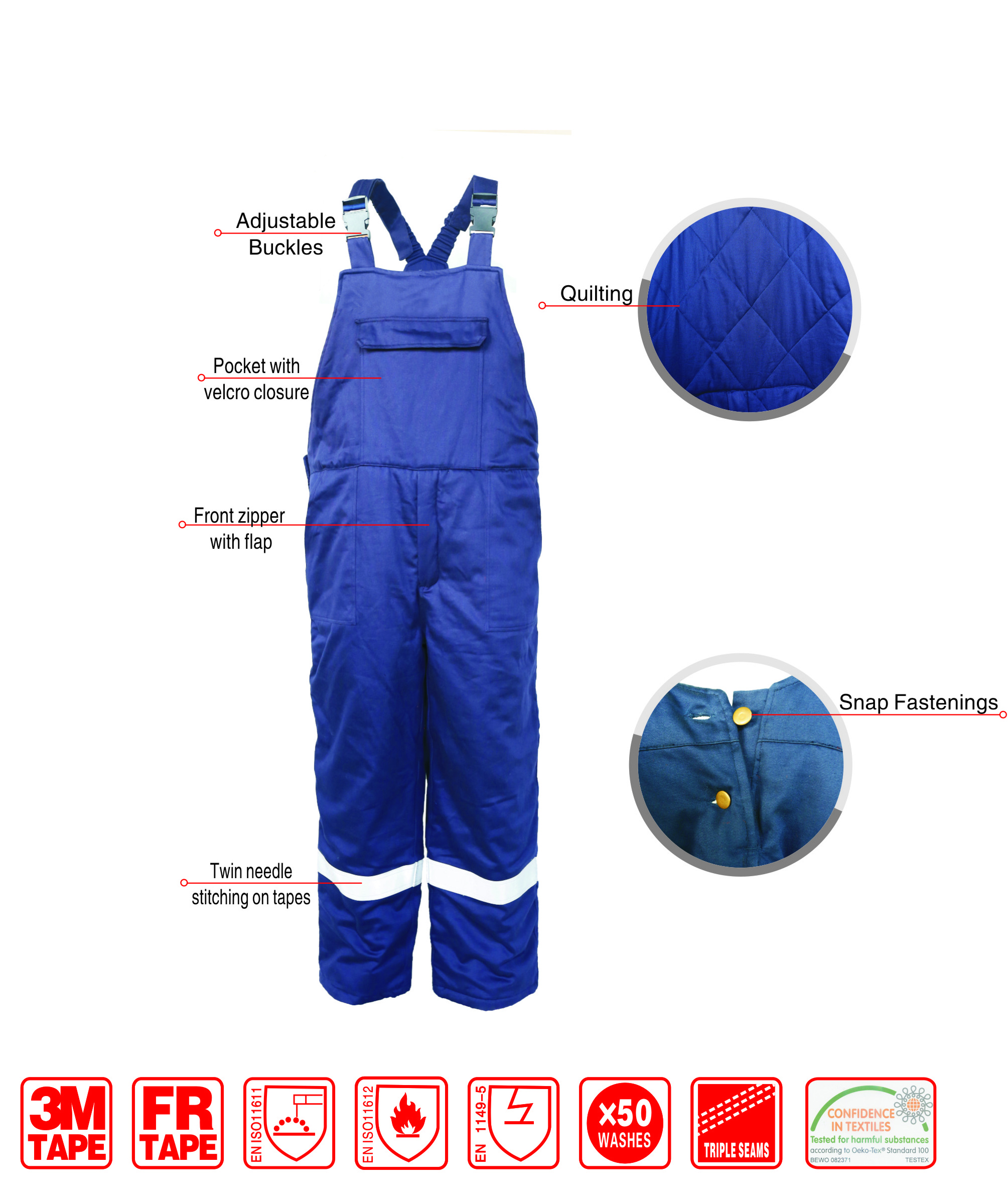 Fr Anti Static Bib Pants