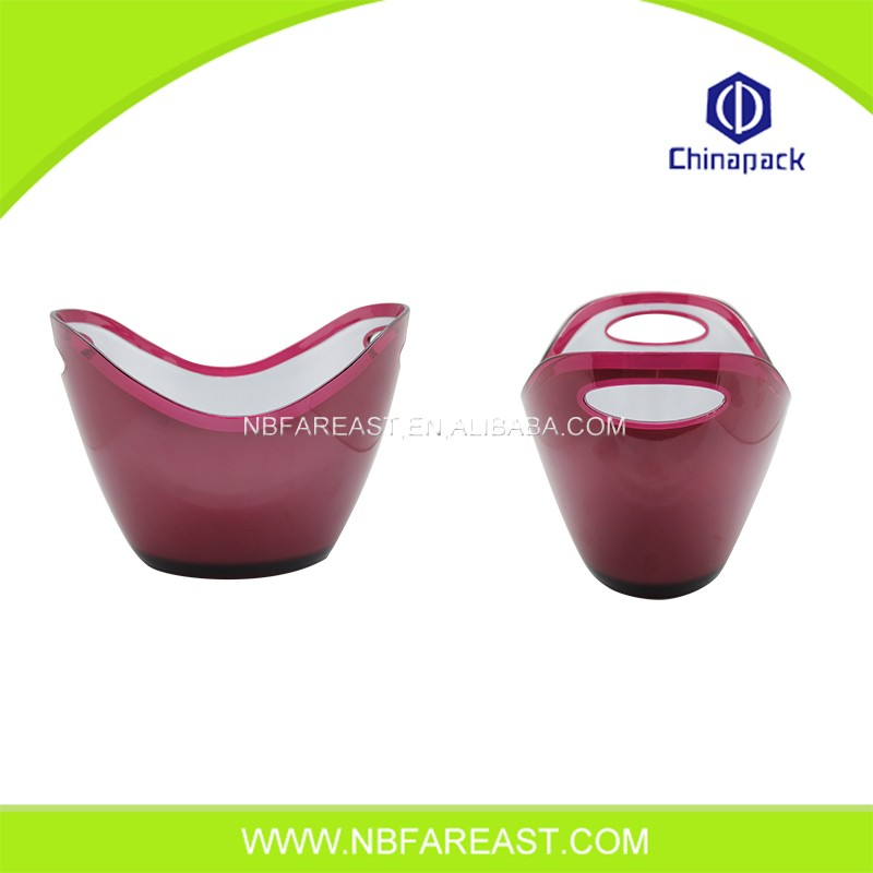 Cheap customized modern design plastic ice bucket