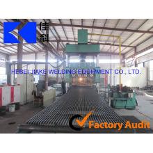 Línea de productos de máquina de rejillas de acero automática de calzada de alta calidad