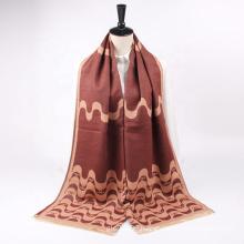 Wholesale Winter Fashion Jacquard Design Soft Feeling Cashmere Thick Warm Shawls Scarf For Women