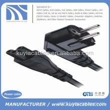 Câble d'alimentation secteur 3 pôles USB 2Pin Adaptateur pour ordinateur portable Noir