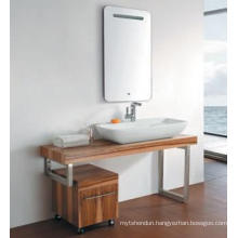 Oak Wood Bathroom Vanity Cabinet New Fashion Cabinet Design Bathroom Furniture Bathroom Cabinet (JN-8810201)