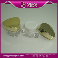 Wholesale Jars Packaging Unique Striangle Shape Plastic Cosmetics Cream Empty Containers And 10g 15g 30g 50g Acrylic Gel Jar