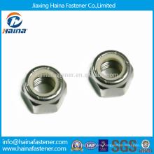 DIN985 In Stock M5-M24 Stainless Steel Nylon Insert Lock Nuts