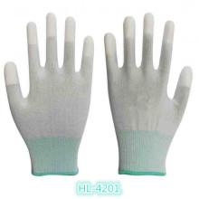 Luva de revestimento de ponta do dedo 13G poliéster/Nylon PU