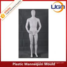 Moule à mannequin en plastique à manches courtes bon marché