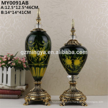 Electroplated pattern on glass home decoration wedding ornament glass bottle set