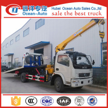 hot sellling DFAC DLK wrecker boom , truck mounted XCMG 3.2ton crane