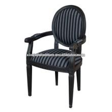 Черный цвет soild wood louis chair XY1016