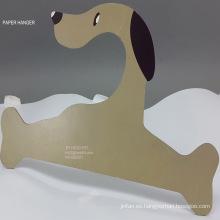 Perro de papel impreso tamaño grande de cartón percha