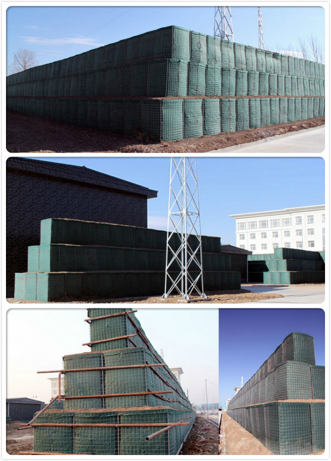 welded gabion box, blast walls