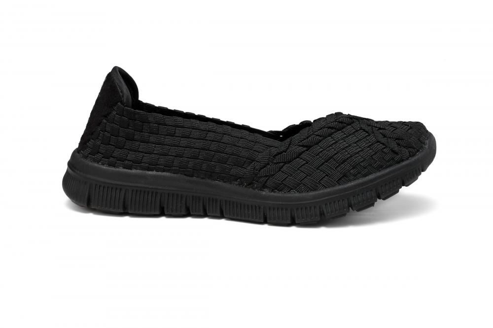 All Black Woven Pump