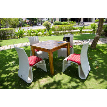 Weather Resistant Coffee Dining Set Poly PE Rattan Wicker Furniture