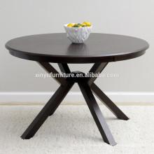 Round wooden restaurant table XYN1519